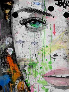 "Saatchi Online Artist: Loui Jover; Ink, 2013, Mixed Media ""who?"""