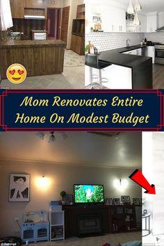Mom Renovates Entire Home On Modest Budget