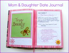 Mom and Daughter Date Journal with FREE printables!--The Peaceful Mom
