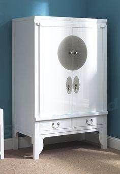 White Chinese wedding cabinet