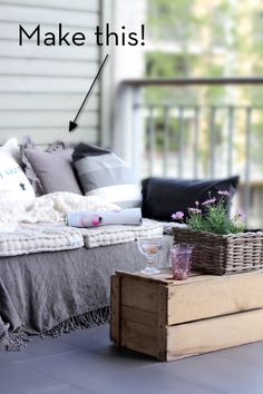 until I find my dream couch I could do something similar to cover up our old hideous one.