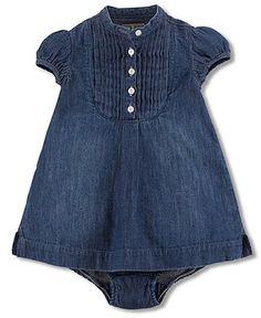 Ralph Lauren Baby Girls Dress, Baby Girls Denim Tunic Dress - Kids Newborn Shop - Macy's