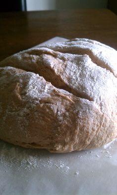 100% Whole Wheat No-Knead Bread