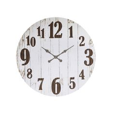 Featuring a weathered finish, this stylish wall clock adds vintaged appeal to your gallery wall.Product: Wall clock