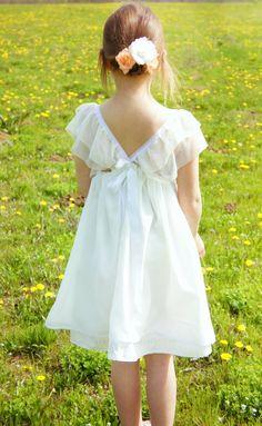 Boho Dress for Girls Backless Maxi Dresses, White Maxi Dresses, Lovely Dresses, White Dress, Short Beach Dresses, Girls Dresses, Flower Girl Dresses, Flower Girls, Summer Dresses