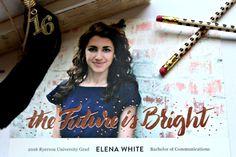 The Future is Bright Minted Graduation card. www.yourstrulyjenn.com
