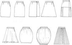 fashion design sketches skirts