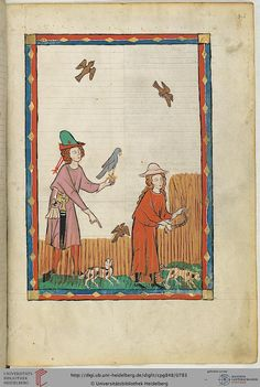 Kunz von Rosenheim, Manesse Codex (UBH Cod. Pal. germ. 848, fol. 394r), 1300-1330 A dome-crowned straw hat with a simple hatband (or is that simply the line where the crown meets the brim?) on a woman harvesting wheat.