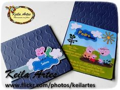 CONVITE GEORGE PIG George Pig Party, Kit, Paper, Invitations, Diy And Crafts, Ideas