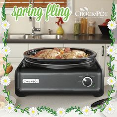 Hosting a party to celebrate spring? Our Crock-Pot® Hook Up® Connectable Entertaining System makes entertaining a breeze! Visit https://www.facebook.com/CrockPot/app_600948003314659?ref=ts to pin this product for your chance to win it! Sweepstakes ends 4/10/15. #CrockPot #SlowCooker #spring #recipe #sweepstakes #entertain #party #pintowin [Promotional Pin]