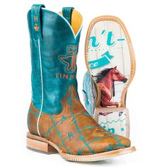 Tin Haul Women's Barb'd Wire Western Boots