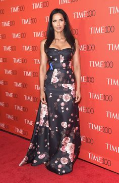 NEW YORK, NY - APRIL 25:  Padma Lakshmi attends the Time 100 Gala at Frederick P. Rose Hall, Jazz at Lincoln Center on April 25, 2017 in New York City.  (Photo by Gary Gershoff/WireImage) via @AOL_Lifestyle Read more: https://www.aol.com/article/entertainment/2017/04/26/time-100-gala-red-carpet-arrivals/22056483/?a_dgi=aolshare_pinterest#fullscreen