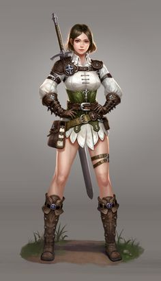 ArtStation - Swords woman_character concept, Jun Hyunk Lee