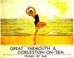 Fantastic A4 Glossy Print - 'Great Yarmouth' - Taken From A Rare Vintage Travel Poster (Vintage Travel / Transport Posters) by Unknown http://www.amazon.co.uk/dp/B006YDGEM0/ref=cm_sw_r_pi_dp_HW0nvb13A89ZP