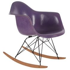 Charles and Ray #Eames for Herman Miller Purple Fiberglass Lounge Rocking Chair Rar