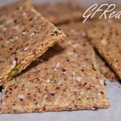 Almond Flax Crackers- wheat free and low carb Healthy Crackers, Low Carb Crackers, Homemade Crackers, Make Almond Flour, Almond Flour Recipes, Almond Meal, Low Carb Recipes, Real Food Recipes, Snack Recipes