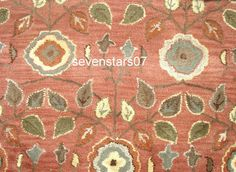 9x12 12x9 Pottery Barn MILLIE Persian Woolen Floral Area Rug Carpet