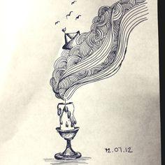 "Moleskine art ""Back home"" by Cris H."