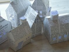 Houses made from a newspaper...