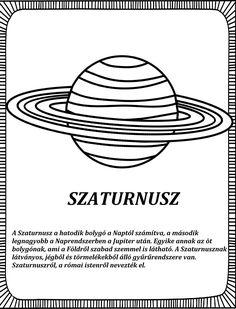Marci fejlesztő és kreatív oldala: Csillagászat- Bolygók Sistema Solar, Earth Day, Elementary Art, Solar System, Coloring Pages, Hold, Photo And Video, Education, Stars