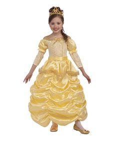 Loving this Yellow Beautiful Princess Dress-Up Set - Girls on #zulily! #zulilyfinds