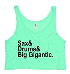 Big Gigantic crop tank. Such a fun band