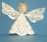 Doily Spoon Angel Christmas Craft for Kids