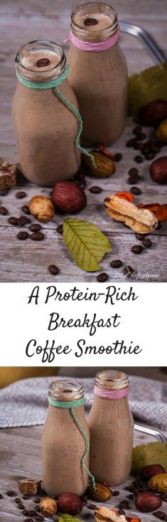 A Protein-Rich Breakfast Coffee Smoothie. This is ready in minutes, packed with nutrients and incredibly tasty! #smoothierecipes #postworkoutrecovery #breakfastrecipe