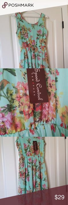 🕗SALE🕗 NWT - Floral Mint Dress - M NWT - Beautiful Womens Summer Floral Mint Dress Size M - Speed Control New York  •Size Medium •NWT New with Tag •No pets, Non Smoker Home •Bundle with at least one more item for a private discount! Speed Control New York Dresses