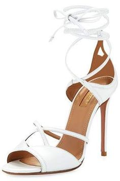 b7cdd238ce6bd Aquazzura Nathalie 105mm Crisscross Leather Sandal