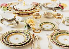 Botanique by Bernardaud. From ChinaRoyale.com Looking at the pieces listed, there are several different patterns.  You can see them in the pic, Nasturium, Morning Glory, St John's Wort, Primrose, Wild Rose, Tulip, Iris, Peach Tree Flower, Buttercup, Scabiosa, Sysimbrio and Marigold!  wow!