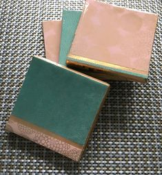 Gold-leafed, Japanese, Concrete, Resin Coasters