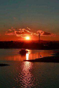 Sun-Lit Sky & Sea