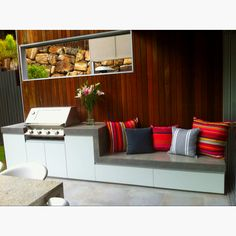 Whispered Bbq Area Ideas Secrets awesome Remember how much storage you'll need for your kitchen. Where you choose to place your outdoor kitchen is dependent on many factors. An outdoor kitche. Cozy Furniture, Outdoor Garden Furniture, Outdoor Rooms, Outdoor Living, Furniture Ideas, Outdoor Stuff, Outdoor Kitchen Plans, Outdoor Kitchen Design, Outdoor Kitchens