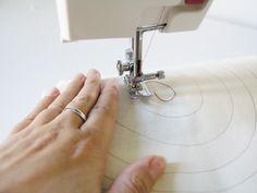 Coser en espiral para practicar la costura de curvas