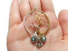 Silmarillion inspired necklace with labradorite gemstones