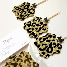 Cheetah Print cup cake toppers