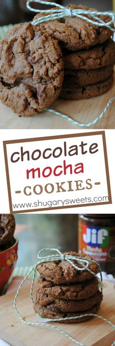 Chocolate mocha nutella biscuits: so rich and delicious that you want more! Easy Cookie Recipes, Cookie Desserts, Easy Desserts, Sweet Recipes, Baking Recipes, Delicious Desserts, Dessert Recipes, Yummy Food, Nutella Cookies
