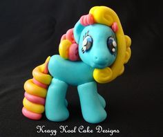 Little Pony Cake Topper In Blue by KrazyKoolCakeDesigns on Etsy, $60.00