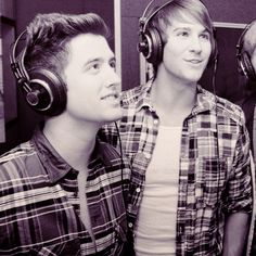 "Logan Henderson and James Maslow! OMG:""> My two favourite guys! :) @koallaking"
