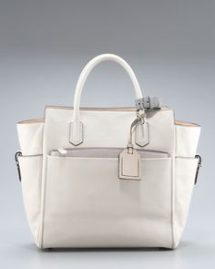Atlantique Tote, Winter White/RK Gray by Reed Krakoff at Bergdorf Goodman.