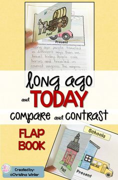 Kindergarten, first grade, and second grade students will love comparing long ago to today in social studies. So many engaging activities including an interactive past vs present flap book. Perfect also to teach informative writing.