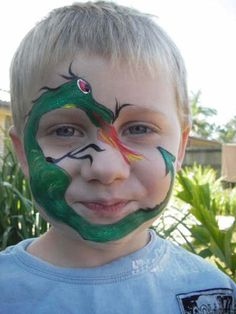 Adorable dragon ideas for facepainting