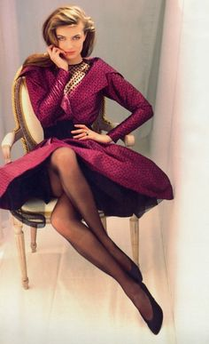 Paulina Porizkova- Vogue France 1987   by Arthur Elgort