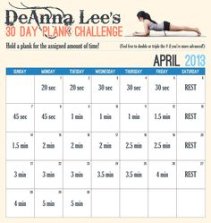 30 Day Plank Challenge -