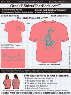 Love the pocket!  Epsilon Sigma Alpha Pledge Class  http://www.greekt-shirtsthatrock.com/