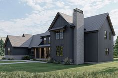 Modern Farmhouse Plan: 3,124 Square Feet, 5 Bedrooms, 3.5 Bathrooms - 963-00615 Courtyard Entry, Modern Farmhouse Plans, Best House Plans, In Law Suite, Build Your Dream Home, Modern Bedroom, Great Rooms, Floor Plans, House Design