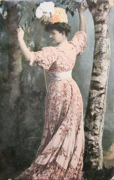 Pink vintage dress...