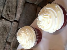 Jumbo red velvet cupcakes with cream cheese frosting