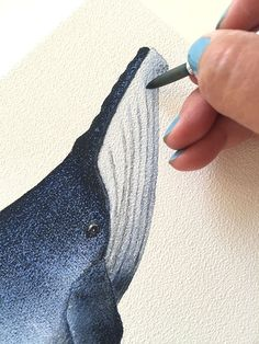 Load the tip of a round brush with paint and lightly mark in throat grooves. Cindy Lane.